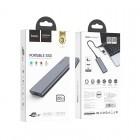 Portable SSD Hoco UD7 Extreme Speed 256GB (USB & Type-C 3.1) [Gray]