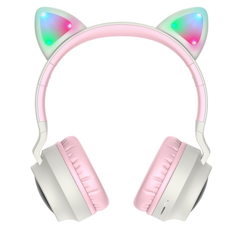 Casti Wireless Hoco W27 Cat Ear [Gray]