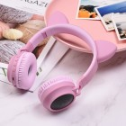 Casti Wireless Hoco W27 Cat Ear [Pink]