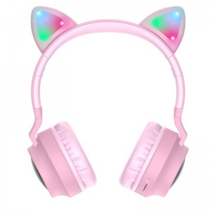 Casti Wireless Hoco W27 Cat Ear [Pink]