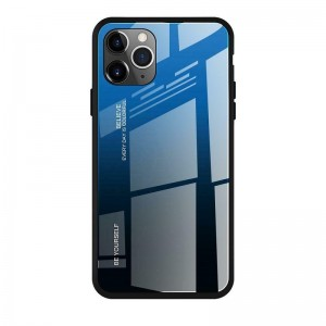 Чехол Screen Geeks Glaze Apple iPhone 11 Pro Max [Blue-Black]