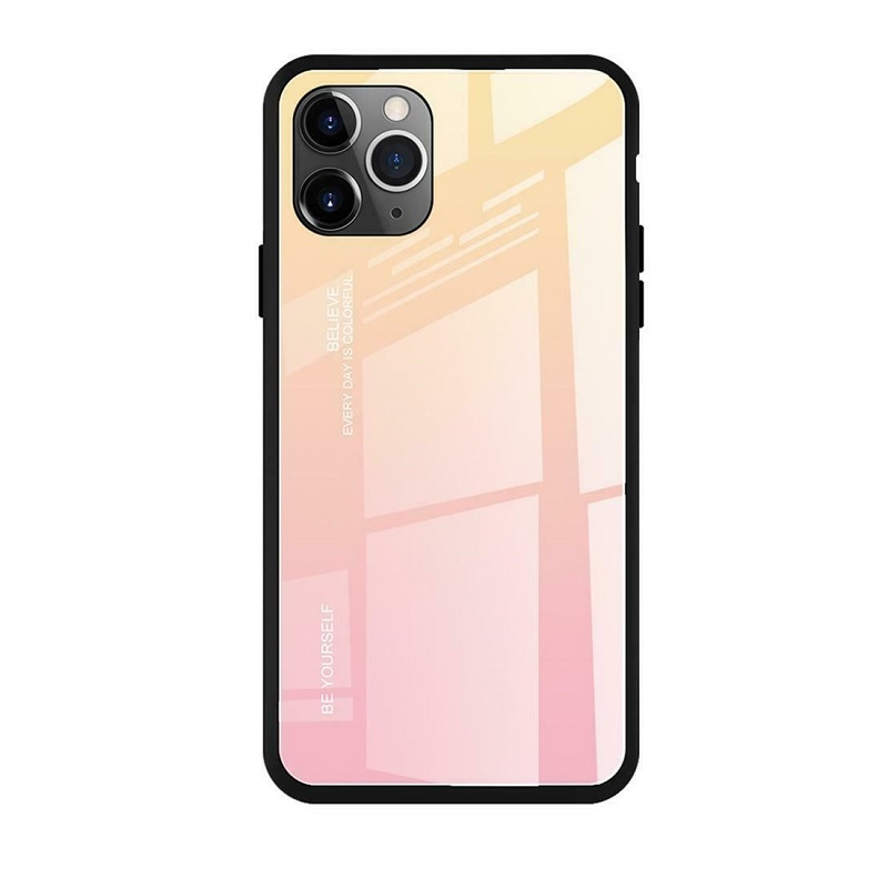 Husa Screen Geeks Glaze Apple iPhone 11 Pro Max [Yellow-Pink]
