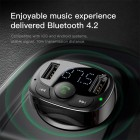 FM Modulator Baseus S-09A  Bluetooth MP3 Vehicle Charger (Black)