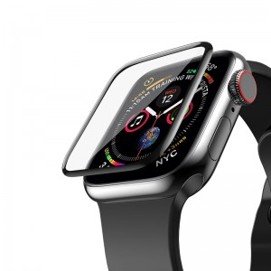 Sticla protectoare Hoco 3D Curved Glass for Apple Watch 4 44mm (Black)