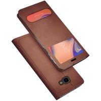 Husa pentru Samsung Galaxy J4 Plus 2018 Screen Geeks View Brown