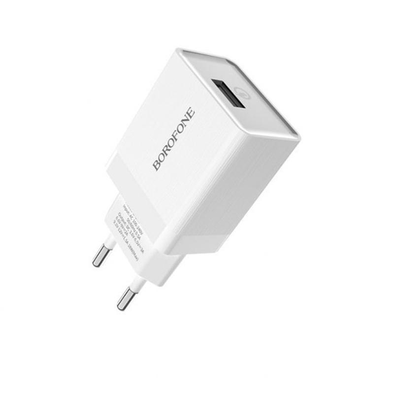 Зарядное устройство Borofone BA17A Centrino (QC 3.0) [White]
