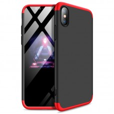 Чехол Apple iPhone X / XS GKK 360 [Black-Red]