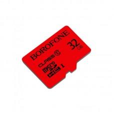 Карта памяти Borofone MicroSDHC 32GB (Class 10) [Red]