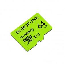 Карта памяти Borofone MicroSDHC 64 GB (Class 10) [Green]