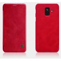 Чехол Samsung Galaxy A6 Nillkin Qin Leather Case Red