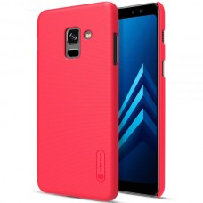 Husa + Folie ecran Samsung Galaxy A6 (2018) Nillkin Super Frosted Shield Red