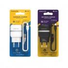 Incarcator de retea Borofone BA24A Vigour + Cablu Lightning (2.1A) [White]