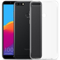 Husa + Folie ecran Huawei Y7 Prime (2018) Screen Geeks TPU Ultra Thin Transparent