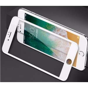 Sticla protectoare iPhone 8  Baseus 0.3mm All-screen Arc-surface Tempered Glass White