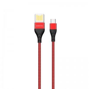 Cablu Borofone BU11 Tasteful Micro USB (1.2m) [Red]