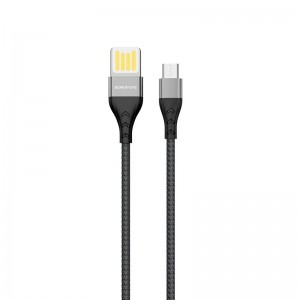 Cablu Borofone BU11 Tasteful Micro USB (1.2m) [Black]