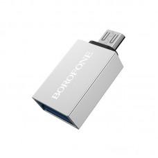 Адаптер Borofone BV2 Micro USB OTG [Silver]