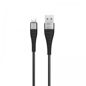 Кабель Borofone BX32 Munificent Lightning (1m) [Black]