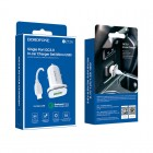 Incarcator auto Borofone BZ12A Lasting + Cablu Micro USB (QC3.0) [White]