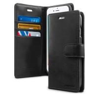 Husa Goospery Mercury Blue Moon Wallet Apple iPhone 7 / 8 [Black]