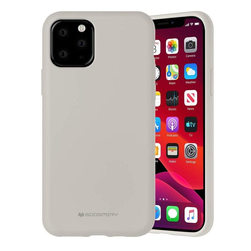 Husa Goospery Mercury Liquid Silicone Apple iPhone 11 Pro Max [Stone]