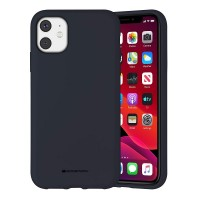 Husa Goospery Mercury Liquid Silicone Apple iPhone 11 [Navy]
