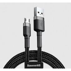 Cablu Baseus Cafule Micro USB (2m) [Black-Gray]