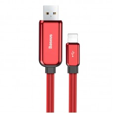 Baseus Glowing Data cable USB For Lightning (Red)