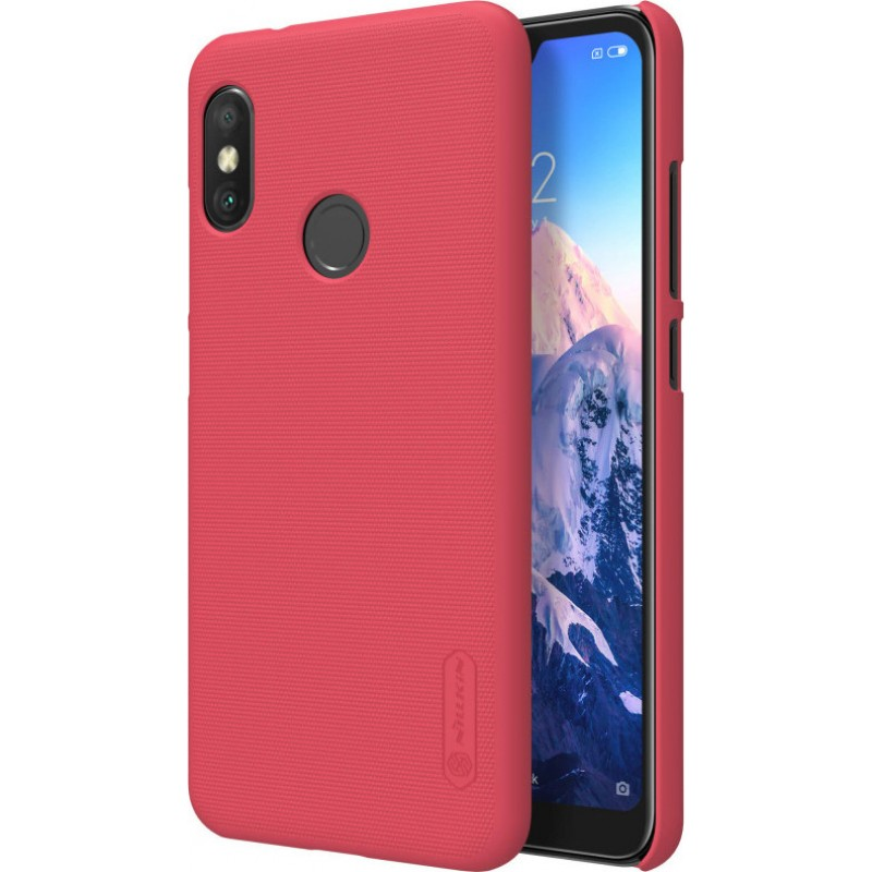 Чехол + Пленка для Xiaomi Mi A2 Lite Nillkin Super Frosted Shield (Red)