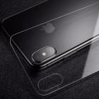 Sticla protectoare pentru spate Baseus 0.3mm Silk-screen Back Glass Film For iPhoneX (Transparent)