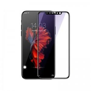 Sticla protectoare Baseus iPhone X 0.3mm Silk-screen All-screen & Anti-blue light Tempered Glass Film (Black)