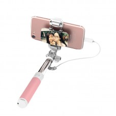 "Selfie stick ""ROCK Lightning + Mirror"" Pink"