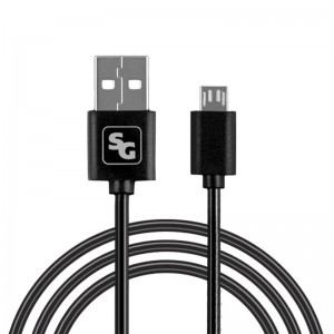 Универсальный Micro USB кабель Screen Geeks Black