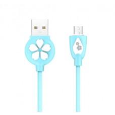 Cablu Hoco  JP.15 Sakura Micro USB (1m) [Blue]