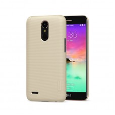Husa + Folie ecran LG K10 (2017) Nillkin Super Frosted Shield Gold