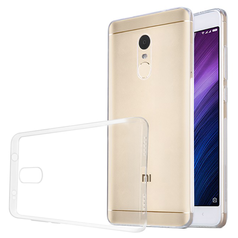 Husa + Folie ecran Xiaomi Redmi Note 4x Screen Geeks TPU Ultra Thin Transparenta