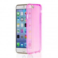 "Husa + Folie ecran iPhone 6 / 6s ""Screen Geeks TPU Ultra Thin"" Pink Transparent"