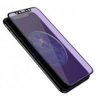 Sticla protectoare pentru iPhone X HOCO V2X Cool Zenith High Transparent 3D Anti-blue Ray Tempered Glass Black