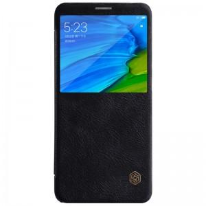 Husa XIAOMI RedMi Note 5 Pro Nillkin Qin Leather Case Black