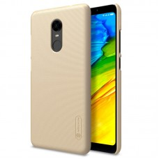 Чехол + Пленка для Xiaomi Redmi 5 Plus Nillkin Super Frosted Shield Gold